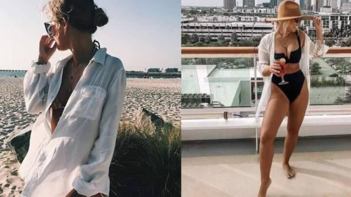 6 maneiras de usar a camisa branca na praia e na piscina